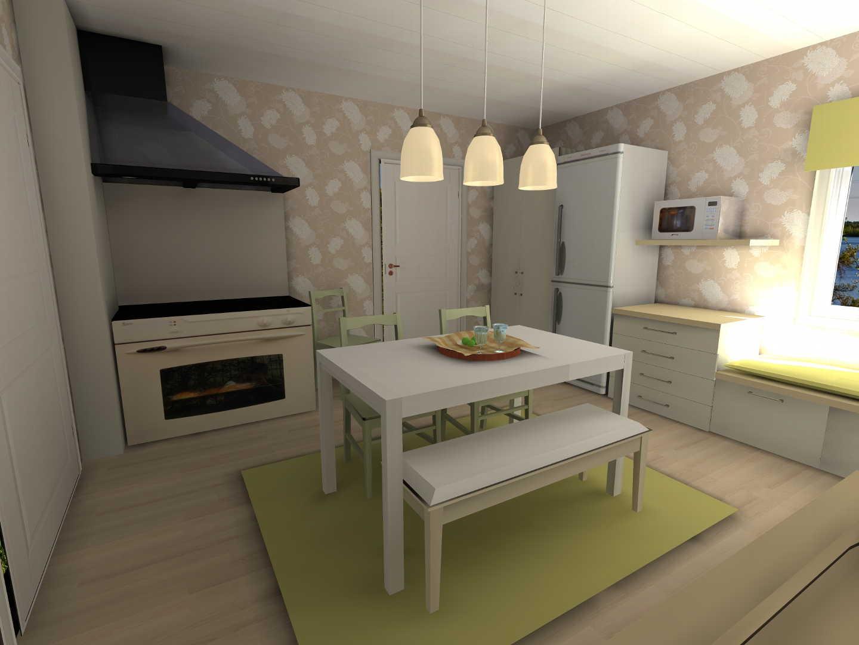 Moderni Maalaisromanttinen keittiö, Sisustus  keittiö