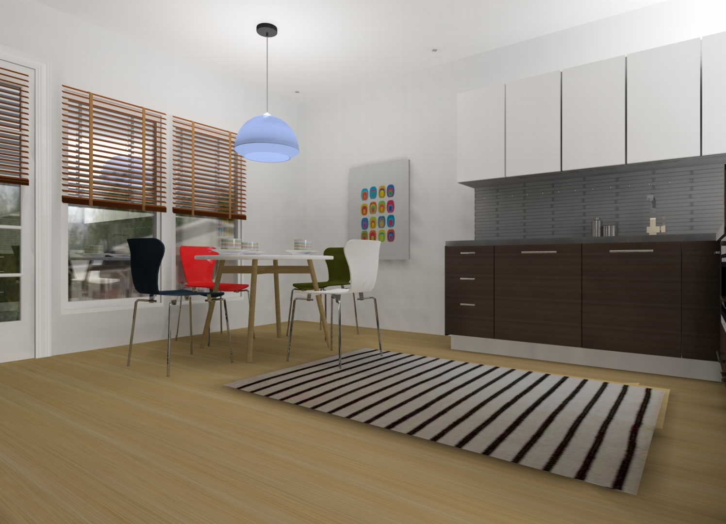 Sisustus  keittiö  olohuone  Moderni