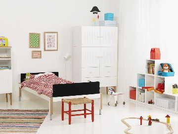 Moderni ja raikas lastenhuoneen sisustus