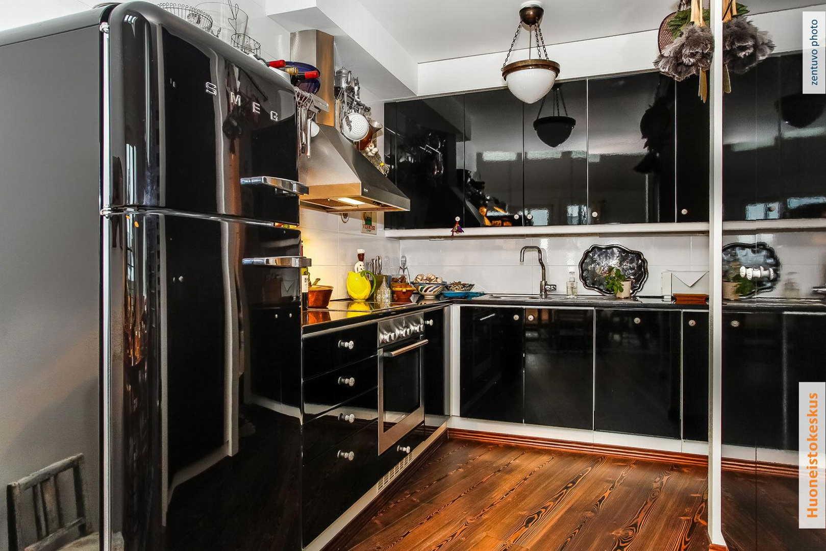 Keittiö Olohuone Sisustus Scandinavian studio apartment interior design