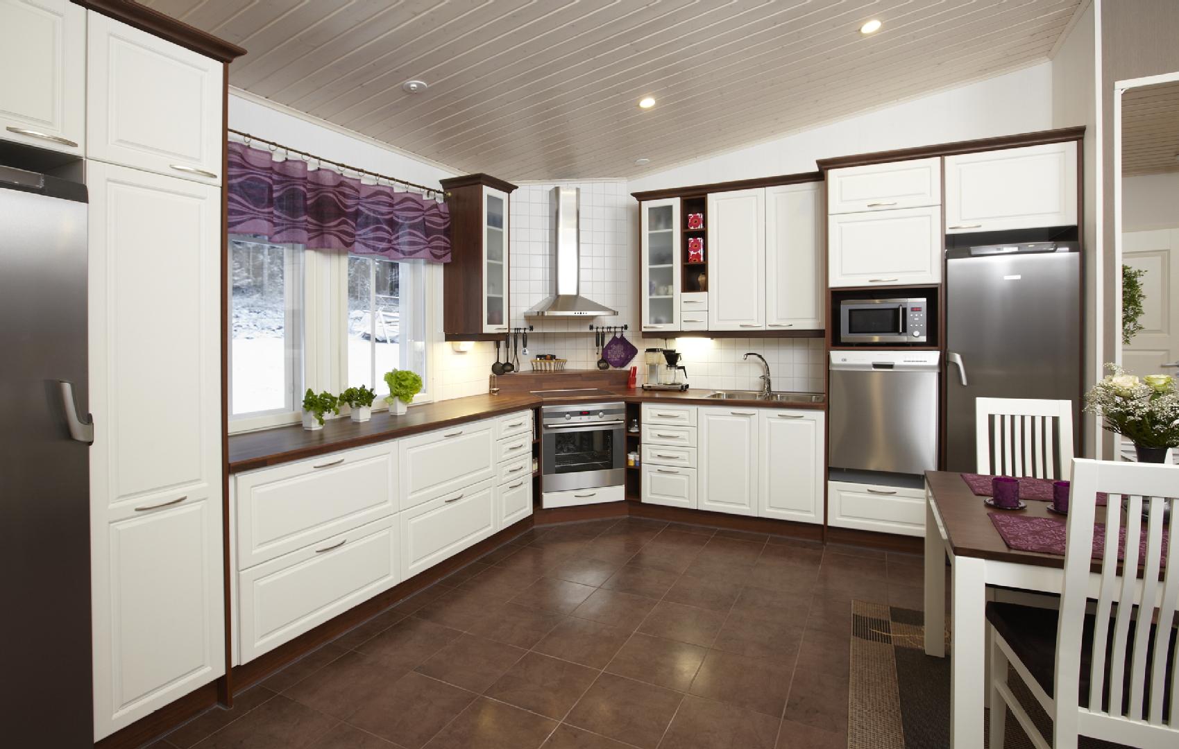 Perinteinen keittiö, Sisustus  keittiö  ruokailutila