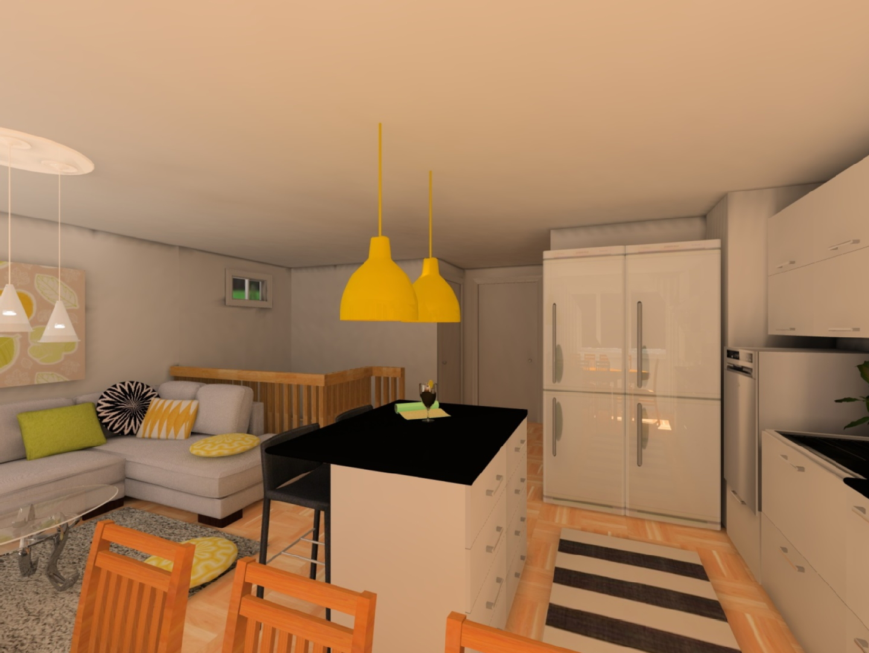 Moderni olohuone keittiö, Sisustus  keittiö  olohuone, Elina Rios  sisustu