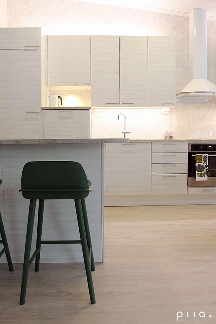 Moderni Skandinaavinen keittiö, Sisustus  keittiö, Piia Seppänen  Designstu