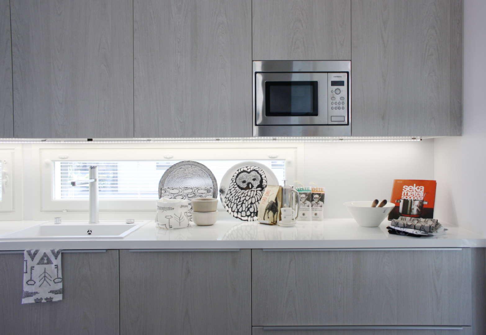 Moderni keittiö, Sisustus  keittiö, Asuntomessut 2014 Jyväskylä, 53c4d097498