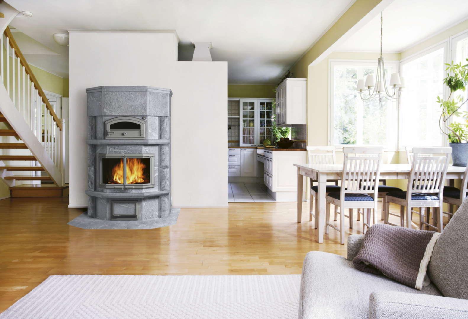perinteinen moderni olohuone ruokailutila takkahuone sisustus olohuone tulikivi. Black Bedroom Furniture Sets. Home Design Ideas