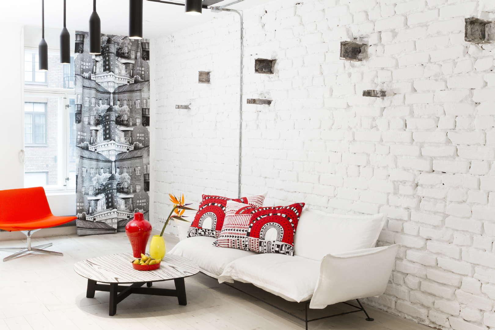 Moderni olohuone, verho tyynynpäällinen, Vallila, 54f044f7498ec414915c0fec