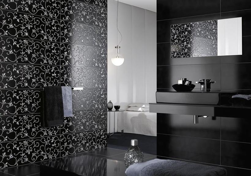 Glamour Moderni kylpyhuone, Laatat, Laattapiste